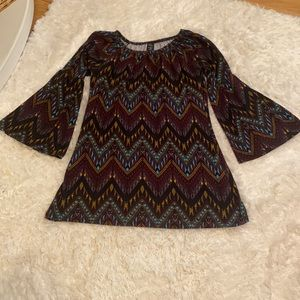 Bell Sleeve Tunic Size S-M